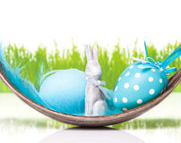 Easter decoration, easter eggs, blue Stock Photos