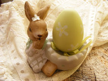 Easter decoration with egg. And rubbit Stock Photos