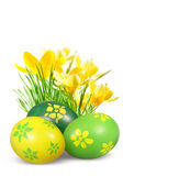 Easter decoration with eggs. Royalty Free Stock Photo