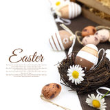 Easter decoration with eggs Stock Images