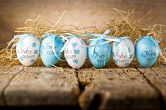 Easter decoration eggs cute bunny. Happy Easter. Vintage style t royalty free stock photography