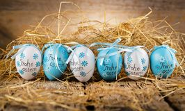 Easter decoration eggs cute bunny. Happy Easter. Vintage style t stock image