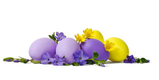 Easter decoration with eggs Royalty Free Stock Photography