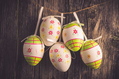 Easter decoration eggs Stock Photo