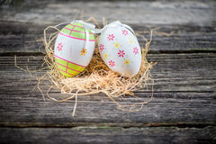 Easter decoration eggs Royalty Free Stock Images