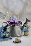 Easter decoration with eggs Royalty Free Stock Image