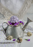 Easter decoration with eggs Royalty Free Stock Photos