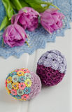 Easter decoration with eggs Stock Photos