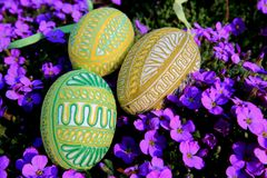 Easter decoration - eggs Royalty Free Stock Image