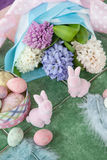 Easter decoration and flowers Stock Photo