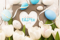 Easter decoration with frame Stock Image