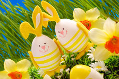 Easter decoration in grass Royalty Free Stock Image
