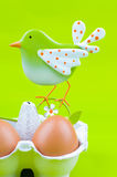 Easter Decoration. On green background Royalty Free Stock Photography