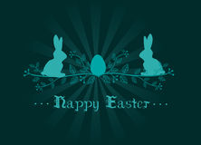 Easter decoration greeting card Stock Images