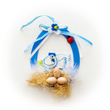 Easter decoration with hen and eggs Royalty Free Stock Image