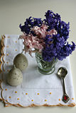 Easter decoration with hyacinth Royalty Free Stock Images