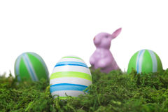 Easter decoration isolated on white Royalty Free Stock Photo