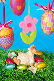 Easter decoration with lamb Stock Photo