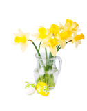 Easter decoration with narcissus Royalty Free Stock Images