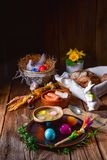 Easter decoration with polish easter soup. A easter decoration with polish easter soup Stock Photos