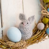 Easter decoration with a rabbit royalty free stock photo
