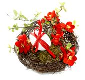 Easter decoration in red 1 Stock Photography