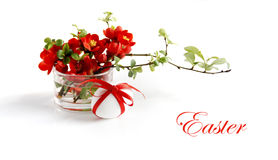 Easter decoration in red Stock Images
