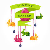 Easter decoration with ribbon Stock Image