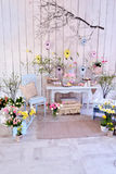 Easter decoration in the room Royalty Free Stock Photos