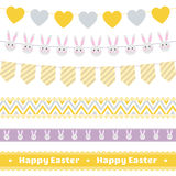 Easter decoration  set. Easter festive garlands and lace ribbons  set.Great for Easter design and scrapbook.Vector illustration.More sets you can find in my Stock Photos