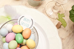 Easter. Decoration of the table Stock Photos