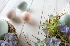 Decoration with easter eggs Stock Photo