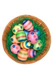 Easter Decoration (Top View) royalty free stock photo