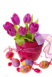 Easter decoration with tulips Stock Image