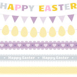Easter decoration vector set. Easter festive garlands and lace ribbons vector set.Great for Easter design and scrapbook.Vector illustration.More sets you can Stock Image
