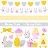 Easter decoration vector set stock illustration