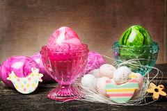 Easter decoration on wood Stock Photography