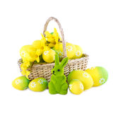 Easter Decoration in Yellow Green Color Stock Image
