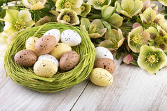 Easter decoration yellow green colors Stock Photo