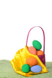 Easter decorations with colored eggs Stock Photography