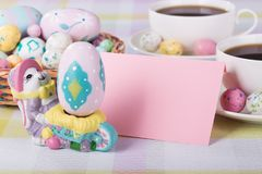 Easter Decorations and Envelope Royalty Free Stock Photo
