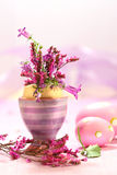 Easter decorations with flowers Royalty Free Stock Photos