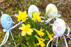 Easter decorations on the meadow Royalty Free Stock Photography