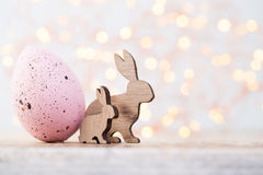 Easter Decorations On A Beautiful Background. Greeting Card.