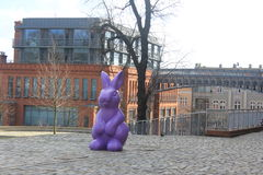 Easter decorations in park in Poznan, Poland Stock Photos