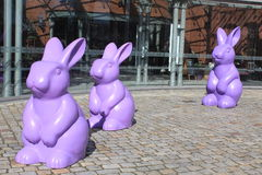 Easter decorations in park in Poznan, Poland Stock Image
