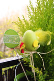 Easter decorations in plant Stock Photos