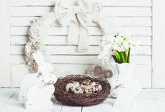 The Easter decorations Stock Photos