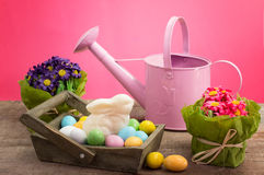 Easter decorations and sweets Royalty Free Stock Photos