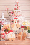 Easter decorations on the table Royalty Free Stock Image